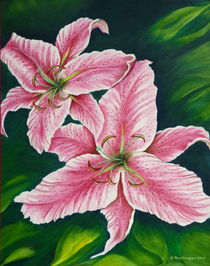 Rosa Lilien by Helga Mosbacher