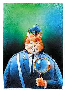 The police cat by stefano tartarotti