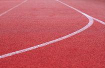 Laufbahn Rechtskurve und Linien von rotschwarzdesign