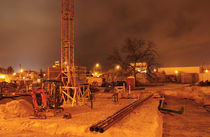 Baustellengrube Nachts by rotschwarzdesign
