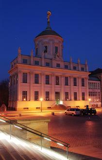 Altes Rathaus Potsdam saniert und Treppe, Nachts von rotschwarzdesign