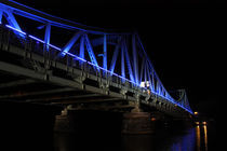 Glienicker Brücke Nachts, Feier 20 Jahre Mauerfall von rotschwarzdesign