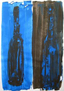 blaue Flaschen von Nicole Hempel