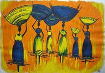 Afrikanische Wasserträgerinnen by Nicole Hempel