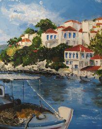 Skiathos Harbour von Jackie Hagan