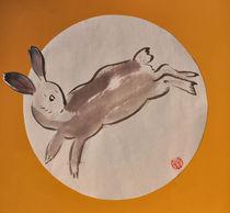 Springender Hase by Claudia Janßen