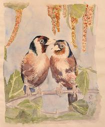Stieglitzpaar von Claudia Janßen