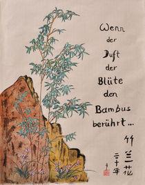 Wenn der Duft der Blüte den Bambus berührt von Claudia Janßen