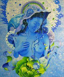 Blaue Dakini von Ernst Thupten Dawa Neuhold