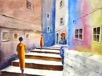 Gasse in Peruggia by Theodor Fischer