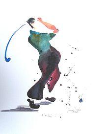 Golfspieler von Theodor Fischer