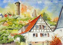 Kirkel Burgruine by Theodor Fischer