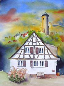 Kirkel Burgstr 53 mit Burgruine by Theodor Fischer