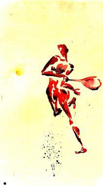 Tennis 1 Return by Theodor Fischer