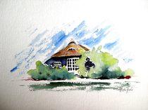 Blaues Haus in Vitte auf Hiddensee von Theodor Fischer