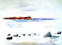 Insel Rügen, Cap Arcona, Ostsee, Aquarell von Theodor Fischer