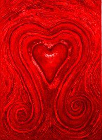 Herz in Blut Rot  by Künstler Ralf Hasse