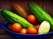 Gurken und Tomaten Dekor von fotokunst
