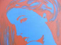 Pop-Art Girl in Blue von svenja bary