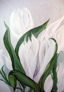Weisse Tulpen by Walli Gutmann