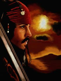 Johnny Depp als Captain Jack Sparrow by Ni cole