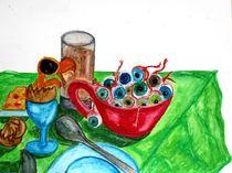 surreales frühstücksmotiv von Susanne Klein