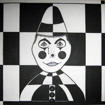 Op Art Pierrot,Weißclown von ksteffen