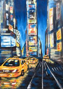 citylights - time square blue von Nina Vahrenkampf