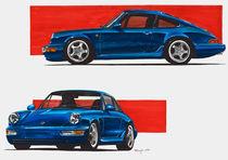 Porsche 911 (964) blaurot von rdesign