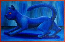 Blaue Katze von Cathleen Ahrens
