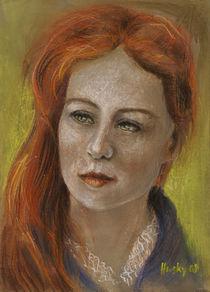 Frau mit roten Haaren by Cathleen Ahrens