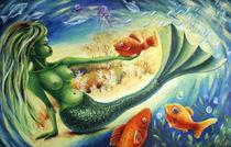 Sirene mit Fisch von Cathleen Ahrens