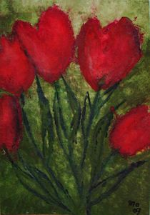 Tulpen im roten Kleid von mo08