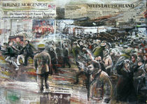 9 November - Moment der Grenzöffnung 100x70cm by Renée König