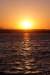 Sonnenuntergang in Hurghada in Ägypten von Juana Kreßner