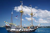 Altes Piratenschiff vor Grand Cayman von Juana Kreßner