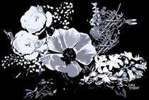 Blumenstrauß-Grafik von Juana Kreßner
