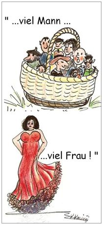 Viel Mann - viel Frau  by Katrin KaciOui
