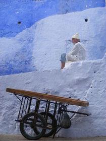 Villager in Blue Morocco von svenja bary