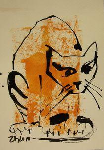 rote Katze von Sonja Zeltner-Müller