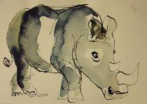 Nashorn by Sonja Zeltner-Müller
