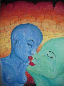 Kuss in Blau by Alice Harnisch