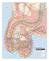 New York Subway Map, 2000 von Veit Schuetz