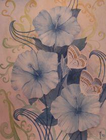 Blaue Blumen by Sabrina Hennig
