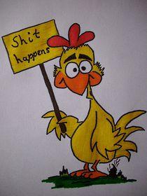 Hühner in Farbe von Karin Frühbrodt-Biller