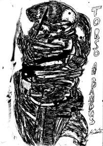 Torso an Bambus von Wolfgang Wende