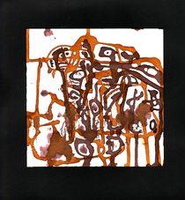 Kabale im Käfig aus Ocker und Caput mortuum von Wolfgang Wende