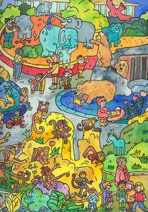 zoo,elefanten,Affen,Bären by sabine voigt