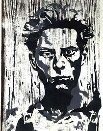 junger Mann,Holzschnitt by sabine voigt