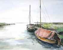 Hafenstimmung in Wieck, Darss von Matthias Kriesel
